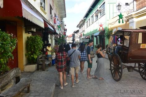 Walking along Calle Crisologo