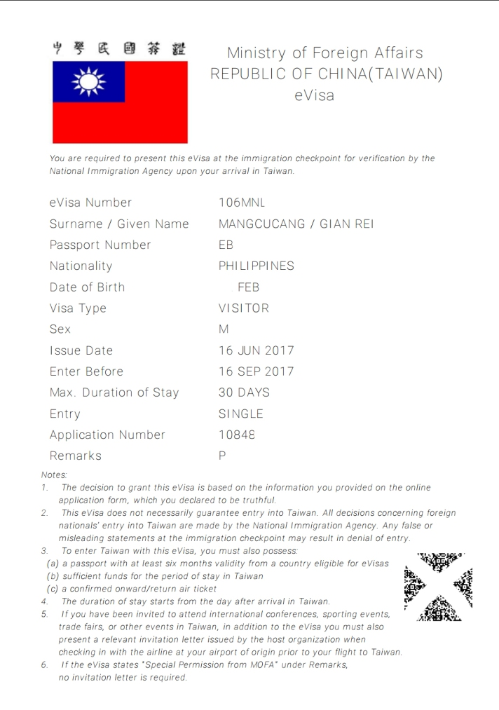taiwan-evisa Taiwan Visa Application Form Desh on